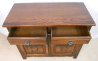 Antique Style Small Carved Oak Sideboard Base by Old Charm - SOLD
